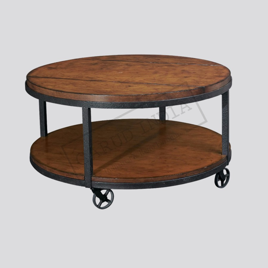 Small Round Indian Metal Coffee Table