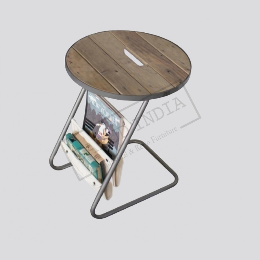 - Round Metal Accent Table