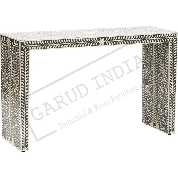 Blue and White Bone Inlay Console