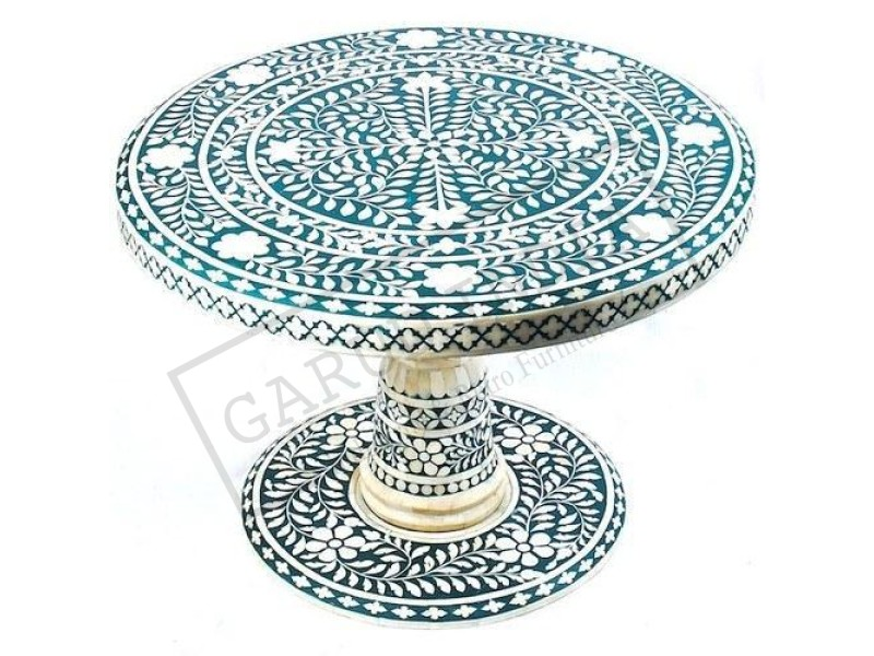 Bone Inlay Round Dining table