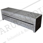 Bone inlay Grey  6 Drawer TV Unit