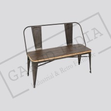Industrial 2 seater bench