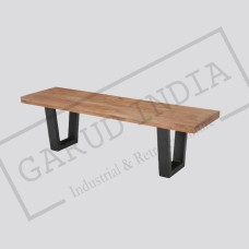 Industrial reclaimed wood bench