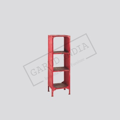 Industrial Antique red bookshelf