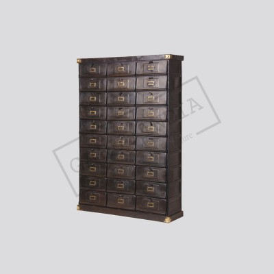 Antique Style Iron Posting Cabinet