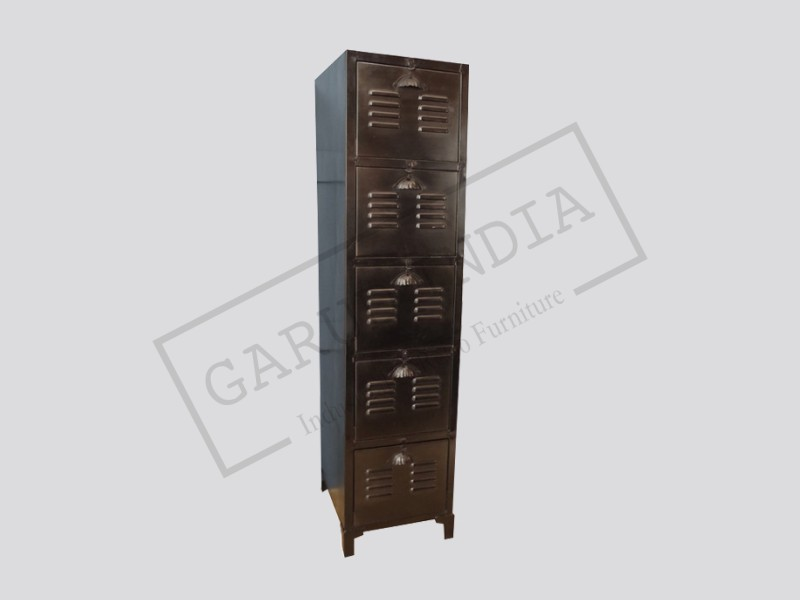 Industrial 5 Drawer Cabinet