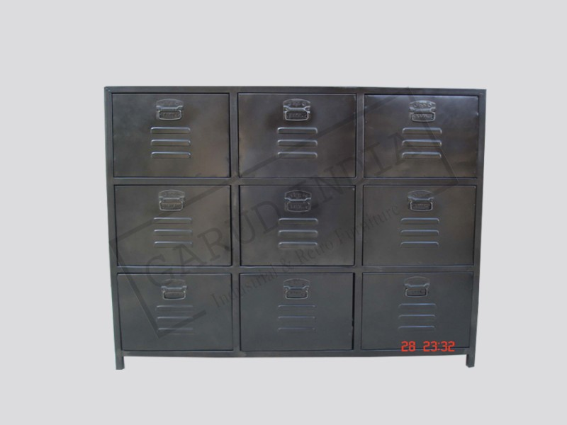 Industrial 9 drawer cabinet