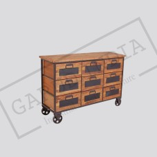 Industrial 9 drawers cabinet