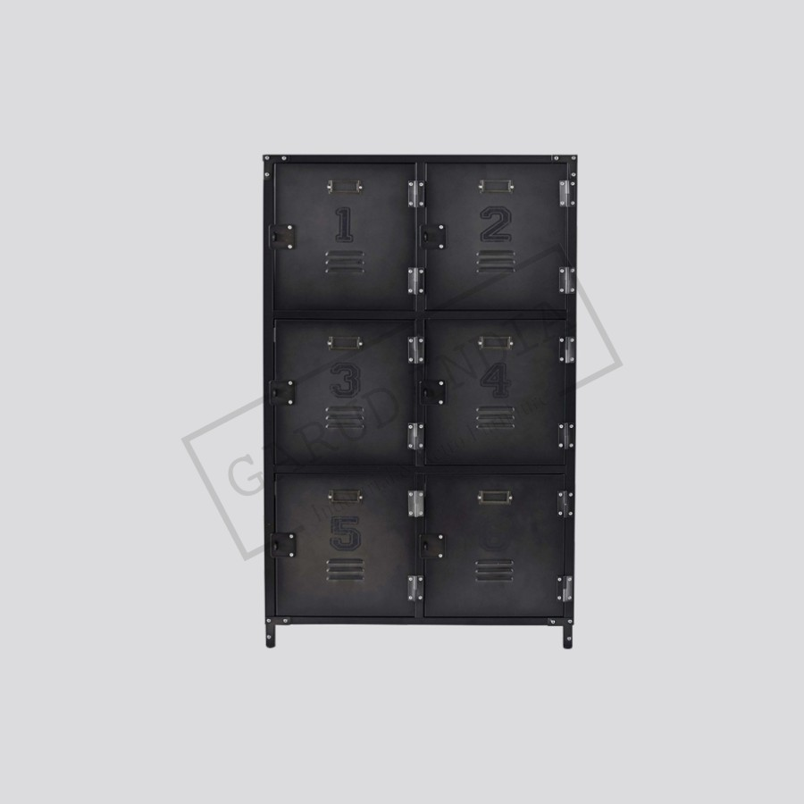 Industrial Cabinet 6 Metal Lockers