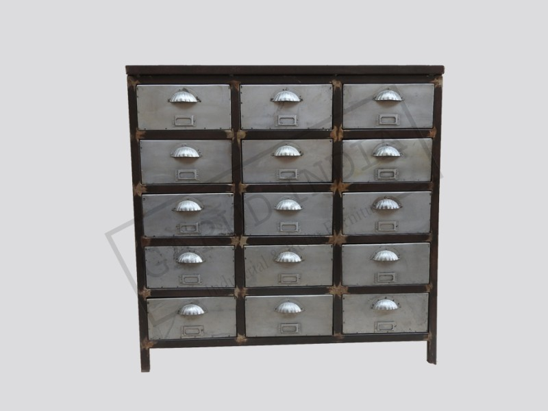 Industrial Metal File 15 Drawers Cabinet