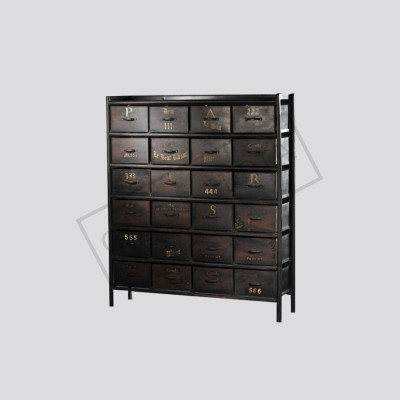 Industrial 24 Drawer cabinet