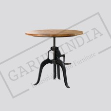 Industrial round crank table