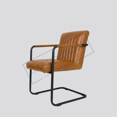 Industrial Arm leather chair