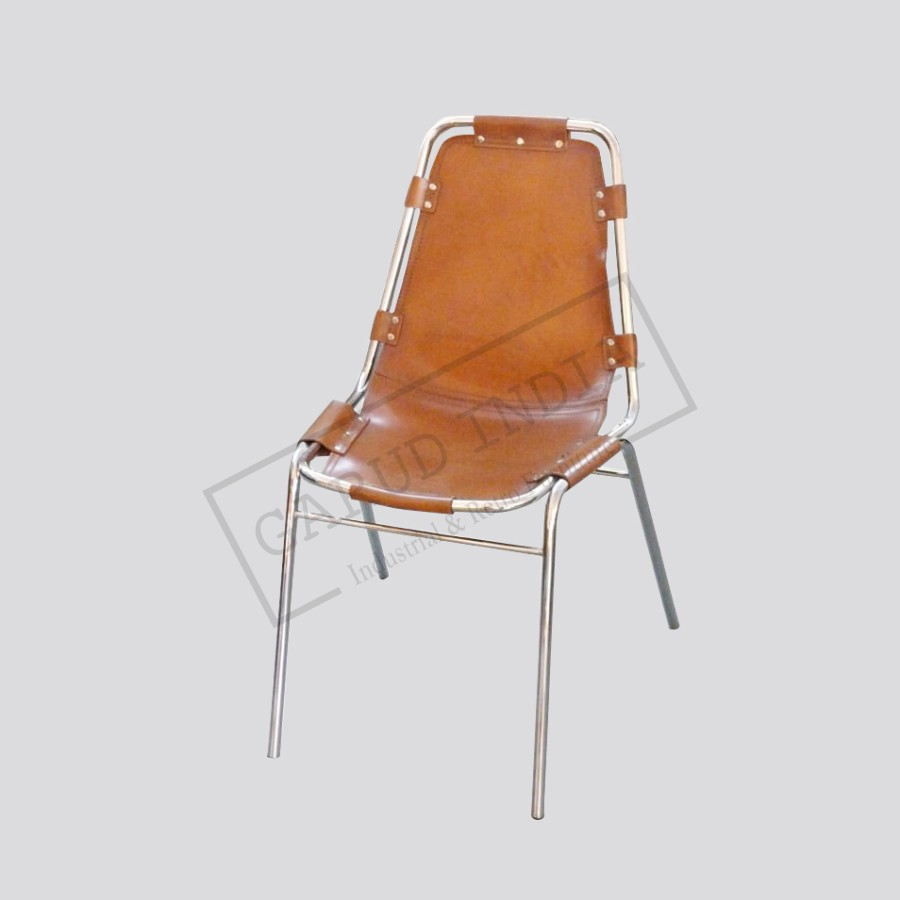 Industrial leather dining chair - Industrial Leather Dining Chair