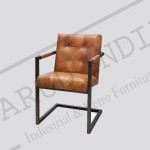 Vintage Industrial Cafe leather Chair