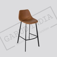 Industrial bar  leather chair