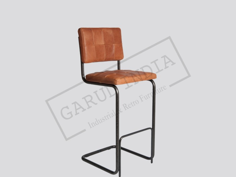 Industrial vintage leather chair