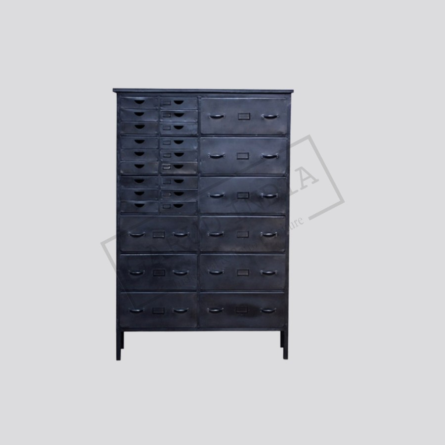 co uk handmade steel wood drawers solid cosywood of frame pine storage industrial style chest