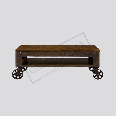 Industrial lift top coffee table