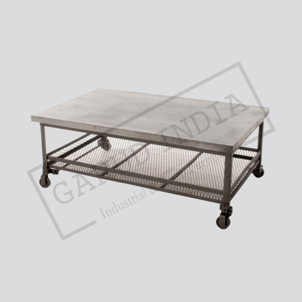 Industrial steel coffee table