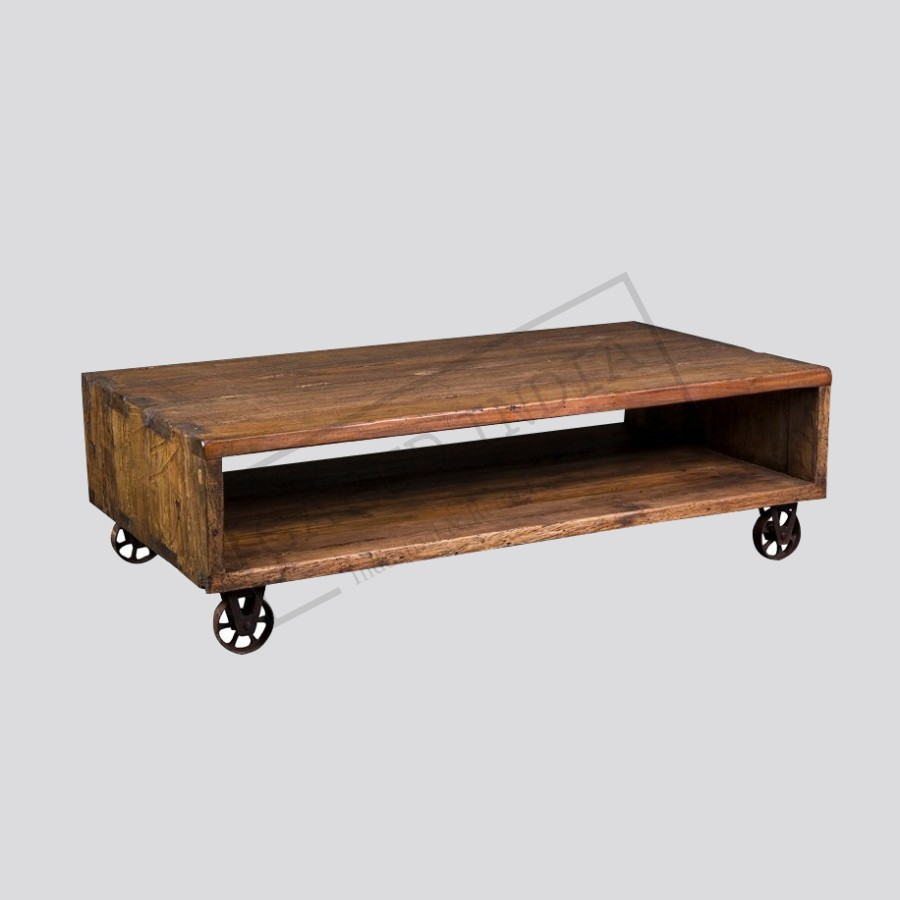 Cube cart coffee table industrial cube cart coffee table geotapseo Choice Image