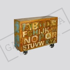 Reclaimed wood ABC 8 drawer side board