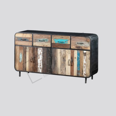 Recycled boat wood sideboard