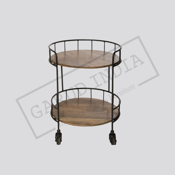 Industrial rolling accent table