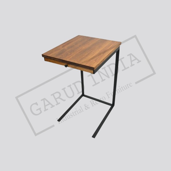 TV tray table with a drawer