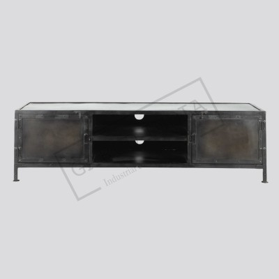 Metal industrial tv unit