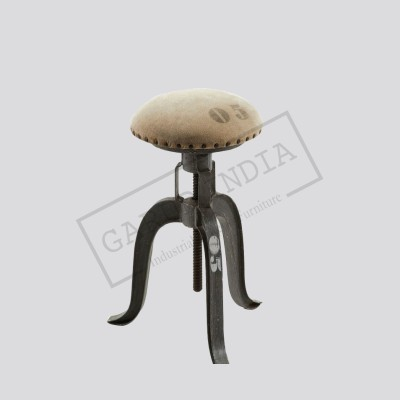 Industrial canvas bar stool