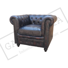 Black Chesterfield 1 Seater Sofa