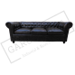 Black Chesterfield 3 Seater Sofa