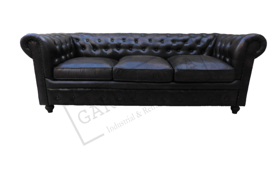 3 seater chester field sofa