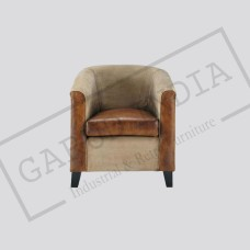 Canvas Leather Sofa