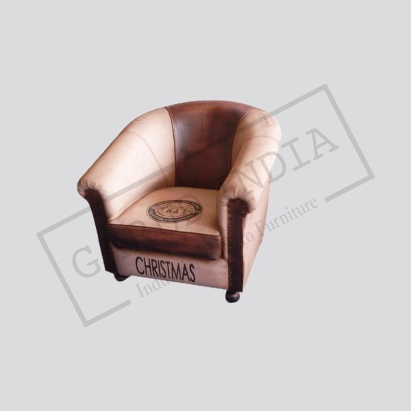 Canvas and leather single seater