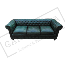 Green Chesterfield 3 Seater Sofa