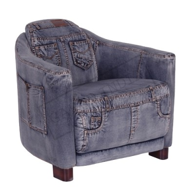 Recycled Denim Arm Chair