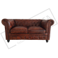 TAN Chesterfield 2 Seater Sofa
