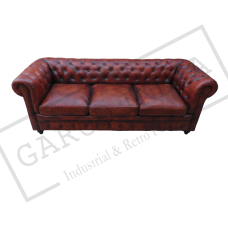 TAN Chesterfield 3 Seater Sofa