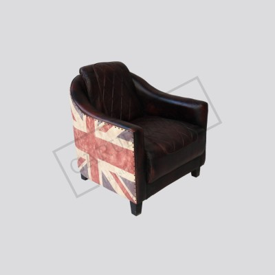 Union jack leather chair