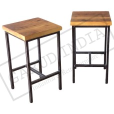 Reclaimed Wood Backless Stools