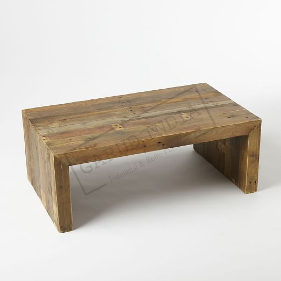 Wood coffee table reclaimed wood coffee table geotapseo Image collections