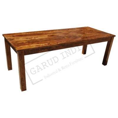 Rustic Solid Wood Rectangular Dining Room Table