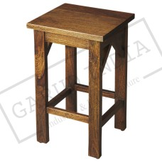 Solid Wood Backless Bar Stool