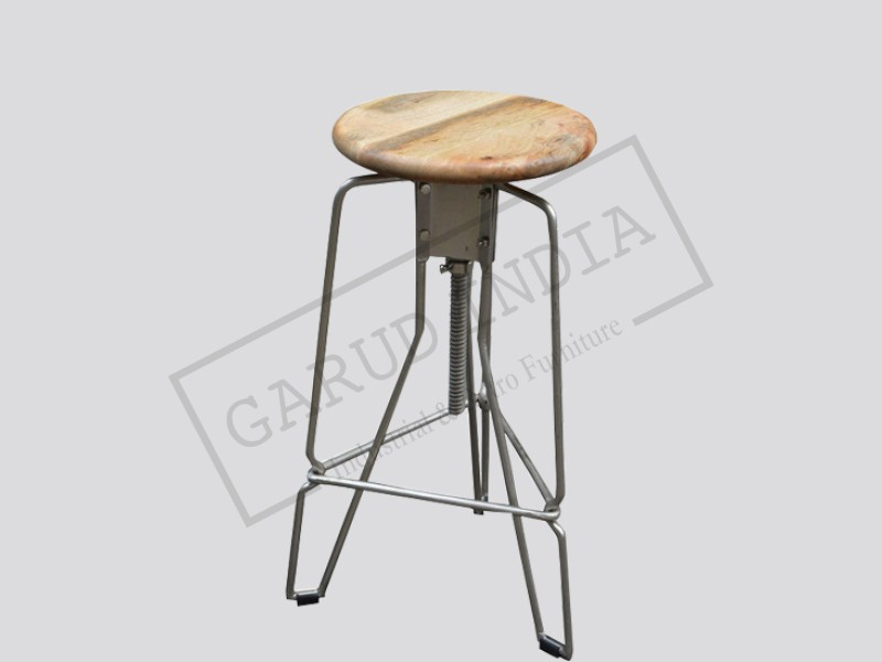 Vintage Adjustable Bar Stool