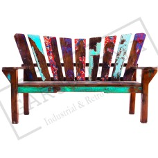 Reclaimed Wood Funky Bench