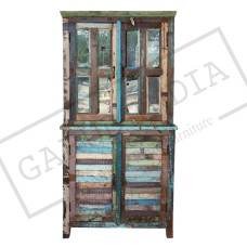 Reclaimed Wood Two Door Cabinet