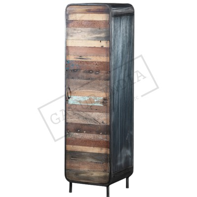 Reclaimed Wood Single Door Cabinet
