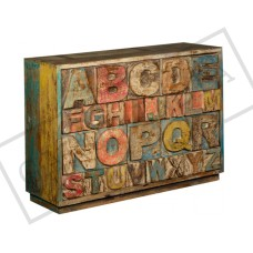 Reclaimed wood ABCD Side Table